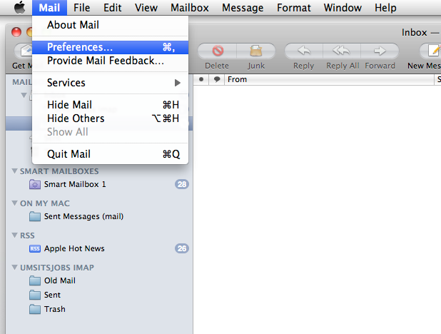 MSLN - Support: Email Clients: Apple Mail