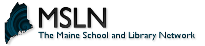 Logo for MSLN: The Maine School and Library Network